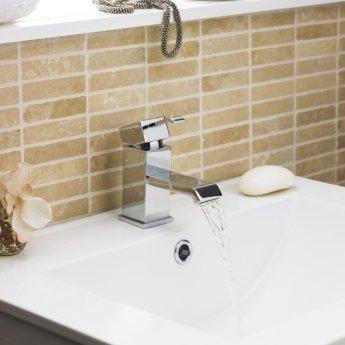 Premier Blake Mono Basin Mixer Tap and Bath Filler Tap, Chrome