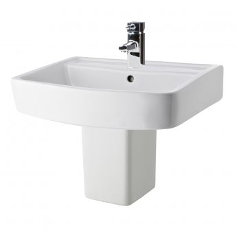 Premier Bliss Basin and Semi Pedestal 520mm Wide 1 Tap Hole