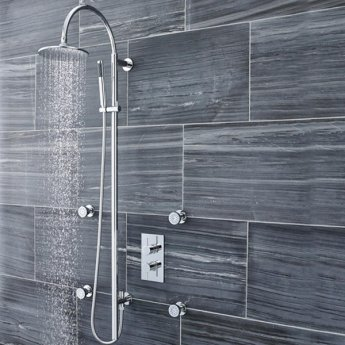 Premier Breeze Shower Kit with Diverter, Pencil Handset and Fixed Head - Chrome