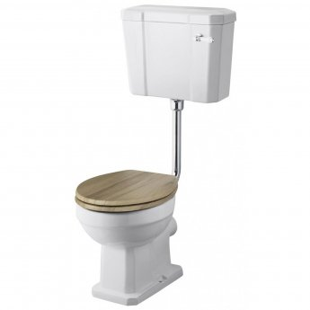 Premier Richmond Low Level Toilet with Lever Cistern - Excluding Seat and CP Flushpipe