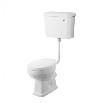 Premier Carlton Low Level Toilet with Lever Cistern and Flushpipe Excluding Seat