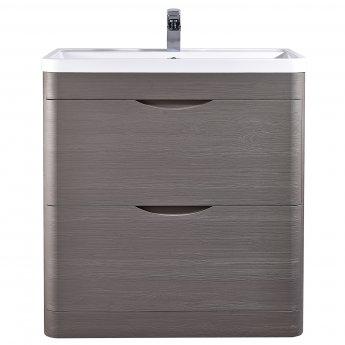 Nuie Eclipse Floor Standing Vanity Unit with Basin 1 - 800mm Wide - Midnight Grey