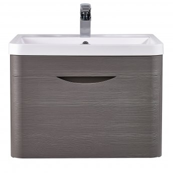 Nuie Eclipse Wall Hung Vanity Unit with Basin 1 - 600mm Wide - Midnight Grey