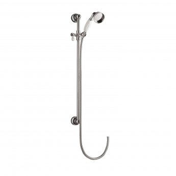 Premier Edwardian Concealed Shower Mixer with Slider Rail Kit + Fixed Head - Chrome