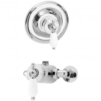 Nuie Edwardian Sequential Concealed or Exposed Shower Valve - Chrome