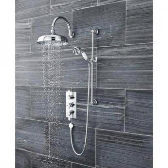 Premier Edwardian Concealed Shower Valve Triple Handle - Chrome