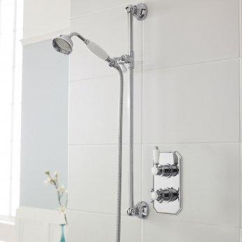 Premier Edwardian Concealed Shower Valve Dual Handle - Chrome