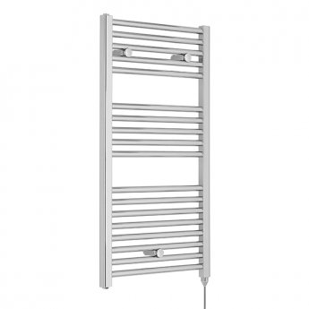Premier Electric Heated Towel Rail 920mm H x 480mm W Chrome