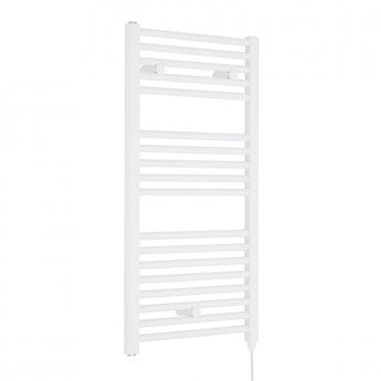Premier Electric Heated Towel Rail 920mm H x 480mm W White