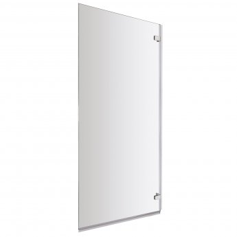 Nuie Ella Square Hinged Bath Screen 1410mm High x 782mm Wide - 5mm Glass