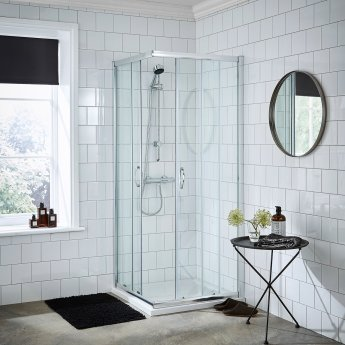 Nuie Ella Corner Entry Shower Enclosure 760mm x 760mm - 5mm Glass