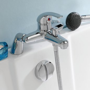 Premier Eon Single Lever Bath Shower Mixer Tap Deck Mounted - Chrome