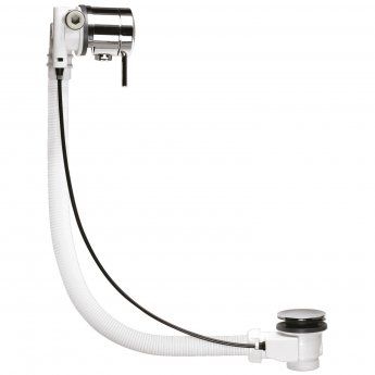 Nuie Freeflow Bath Filler, Pop Up Waste and Overflow, Chrome