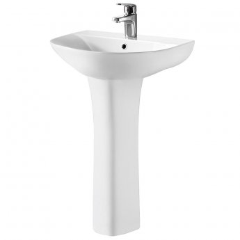 Nuie Freya Complete Bathroom Suite with L-Shaped Shower Bath 1700mm - Right Handed