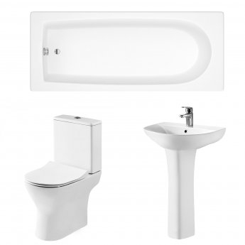 Premier Freya Complete Bathroom Suite with 1700mm Single Ended Bath