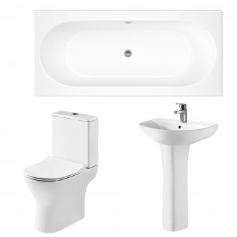 Premier Freya Complete Bathroom Suite with 1800mm Double Ended Bath