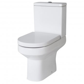 Nuie Harmony Close Coupled Toilet WC Push Button Cistern - Excluding Seat