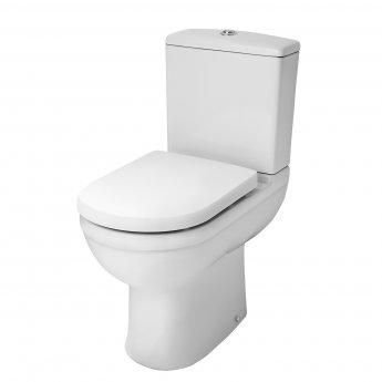 Premier Ivo Comfort Close Coupled Toilet WC Push Button Cistern - Soft Close Seat