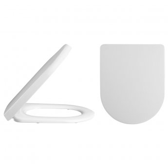 Premier Ivo Comfort Back to Wall Toilet Pan 540mm Projection - Soft Close Seat