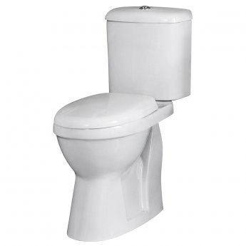 Premier Ivo Comfort Close Coupled Toilet WC Push Button Cistern - Standard Seat