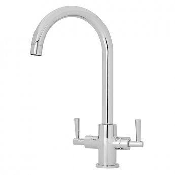 Premier Kitchen Sink Mixer Tap Dual Handle 172mm Spout Reach - Chrome