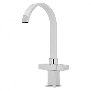 Premier Kitchen Sink Mixer Tap Dual Square Handle - Chrome