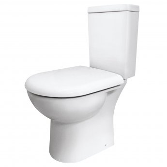 Nuie Provost Close Coupled Toilet WC Push Button Cistern 620mm Projection - Excluding Seat