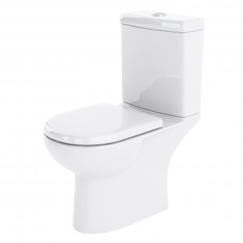 Nuie Lawton Compact Close Coupled Toilet WC Push Button Cistern - Excluding Seat