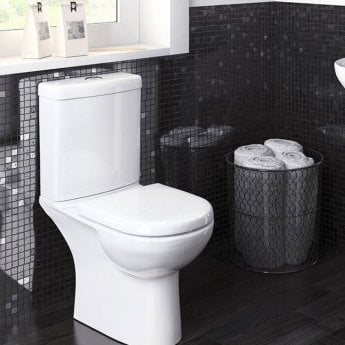 Premier Lawton Compact Close Coupled Toilet WC Push Button Cistern - Excluding Seat