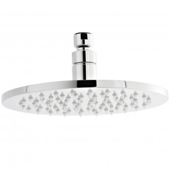 Nuie LED Round Fixed Shower Head, 200mm Diameter, Chrome