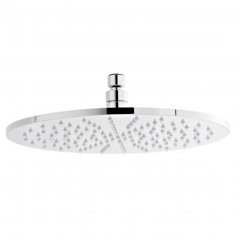 Premier LED Round Fixed Shower Head, 300mm Diameter, Chrome
