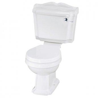 Premier Legend Close Coupled Toilet WC Lever Cistern - Standard Seat