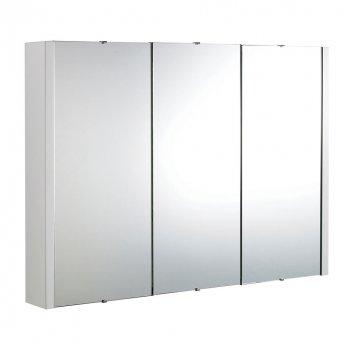 Premier Lux 3 Door Mirrored Bathroom Cabinet 900mm Wide White