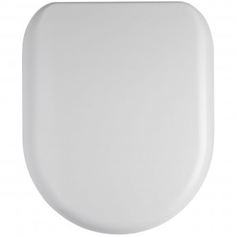 Nuie Luxury D-Shaped Thermoplastic Toilet Seat, Soft Close Hinge, White