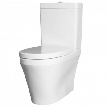 Nuie Marlow Flush-Fit Close Coupled Toilet WC Push Button Cistern - Excluding Seat