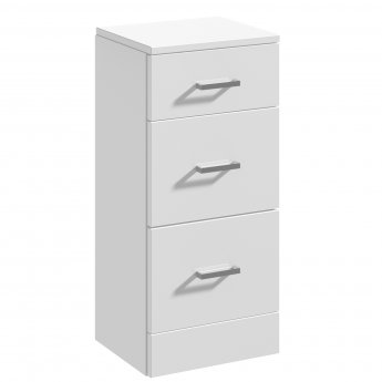 Nuie Mayford 3-Drawer Unit 350mm Wide x 300mm Deep - Gloss White