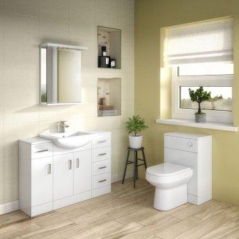 Premier Mayford 2-Door Bathroom Vanity Unit with Basin 650mm Wide - 1 Tap Hole