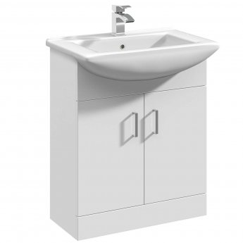 Premier Mayford Floor Standing Vanity Unit with 550mm Wide Basin - 1 Tap Hole