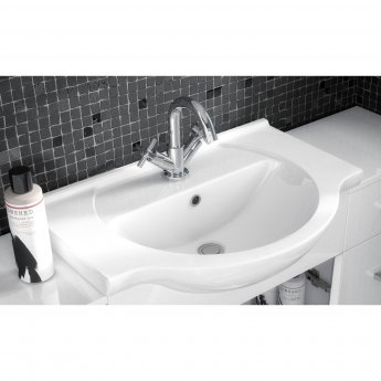 Premier Mayford Bathroom Vanity Unit with Basin 550mm Wide - 1 Tap Hole