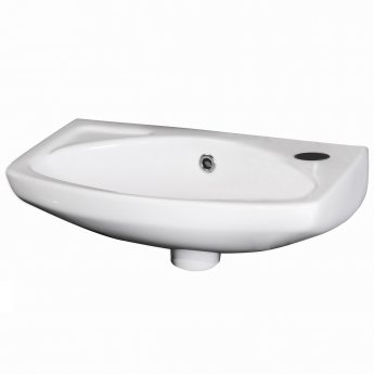 Premier Melbourne Wall Hung Cloakroom Basin 450mm Wide 1 Tap Hole