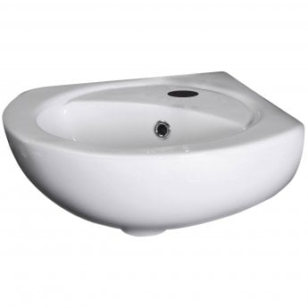 Nuie Melbourne Corner Wall Hung Basin 449mm Wide 1 Tap Hole