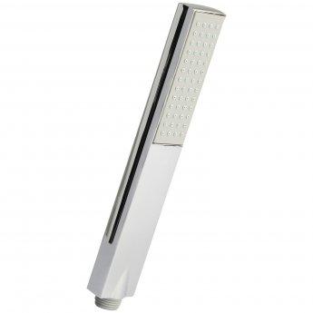 Nuie Minimalist Rectangular Easy Clean Shower Handset - Chrome