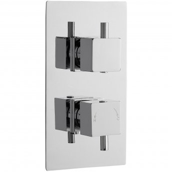 Nuie Series L Concealed Shower Valve Dual Handle - Chrome