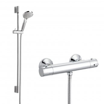 Nuie Value Modern Bar Mixer Shower with Shower Kit