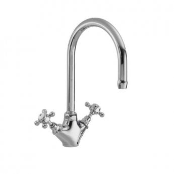 Premier Mono Kitchen Sink Mixer Tap, Dual Handle, Chrome