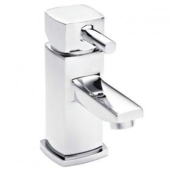 Premier Munro Mono Basin Mixer Tap and Bath Shower Mixer Tap Pillar Mounted, Chrome