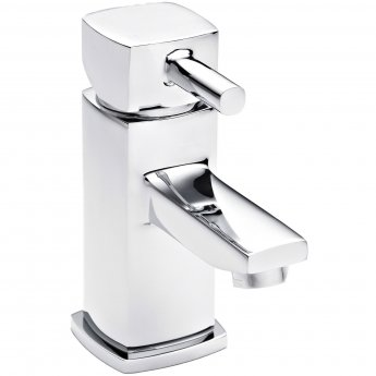 Nuie Munro Mono Basin Mixer Tap and Bath Shower Mixer Tap Pillar Mounted, Chrome