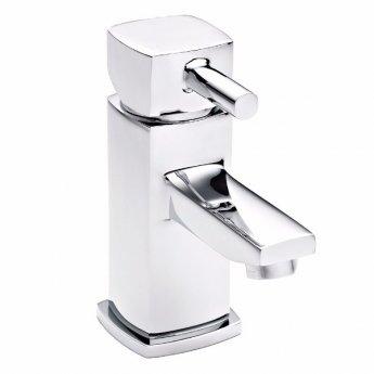Premier Munro Mini Mono Basin Mixer Single Handle with Push Button Waste - Chrome