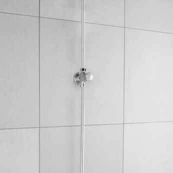 Nuie Self Closing Exposed Shower Valve Non Concussive - Chrome