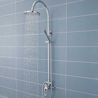 Nuie Ocean Manual Concealed/Exposed Shower Valve Single Handle - Chrome